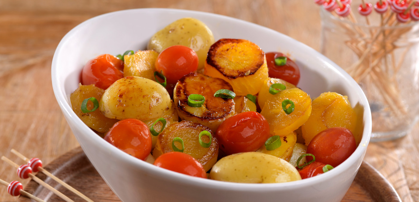legumes assados para aperitivos