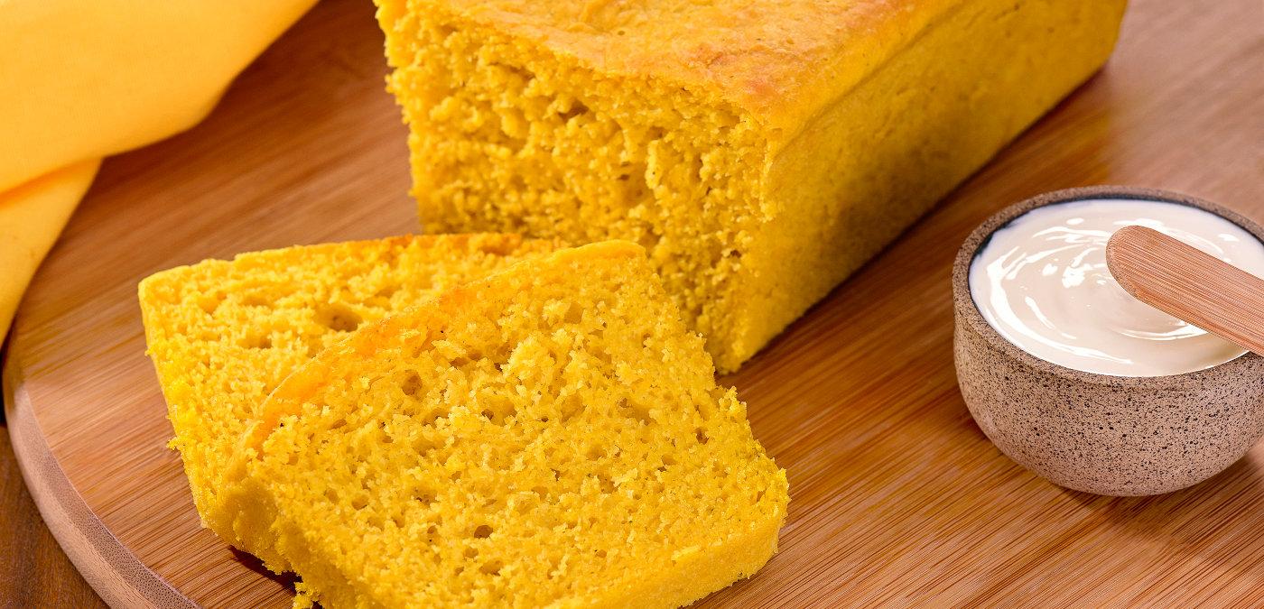 pão prático com casca de abóbora