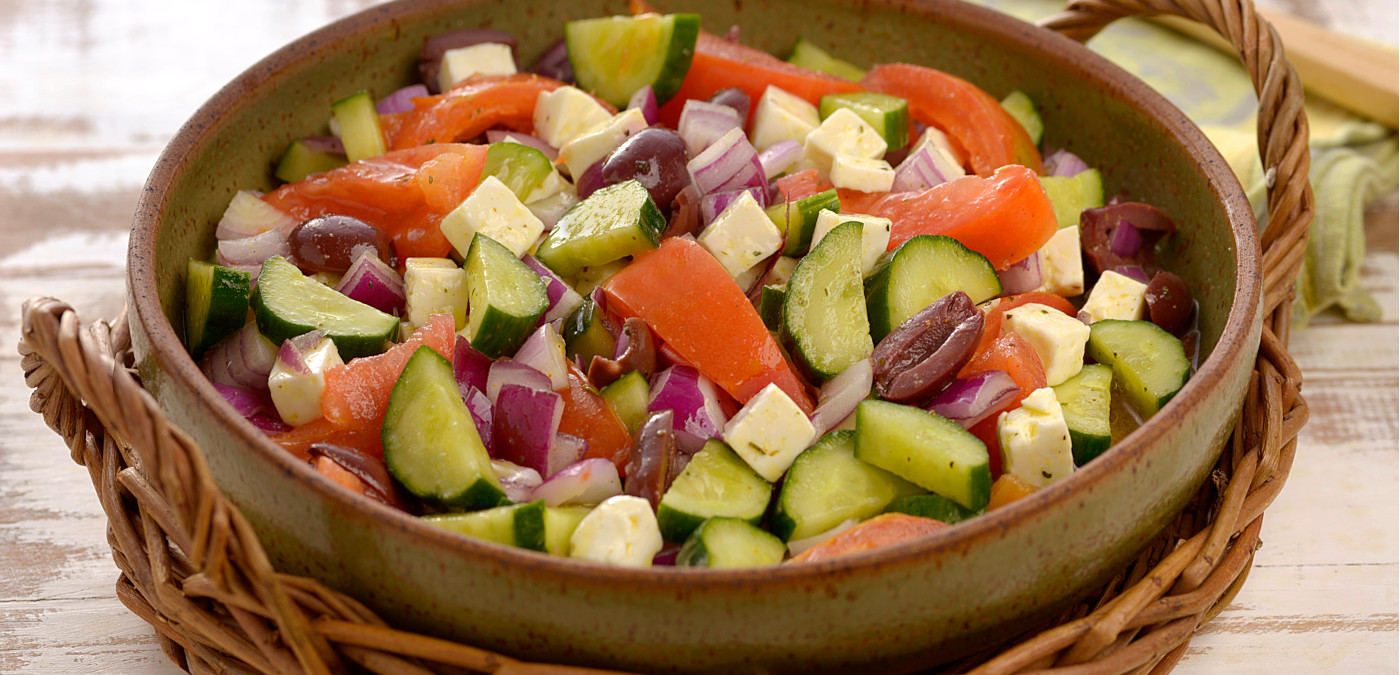 salada de festa para a ceia de natal