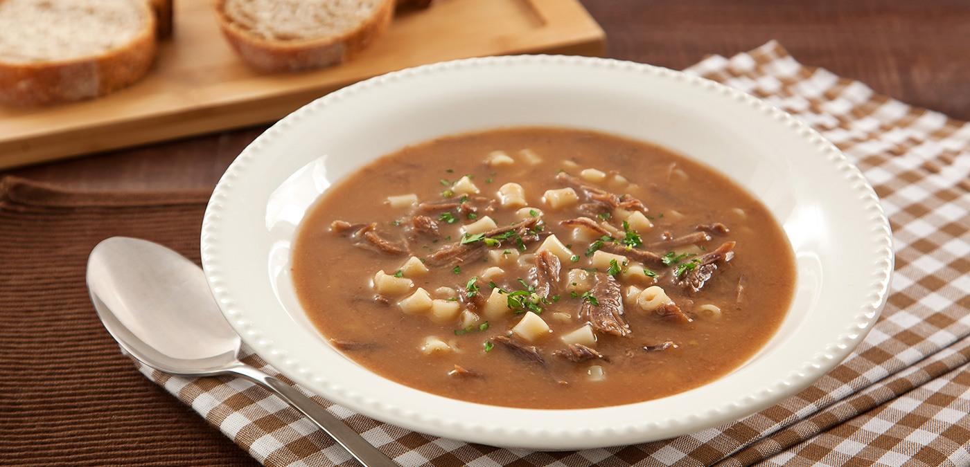 receita de sopa para o inverno de feijão com macarrão