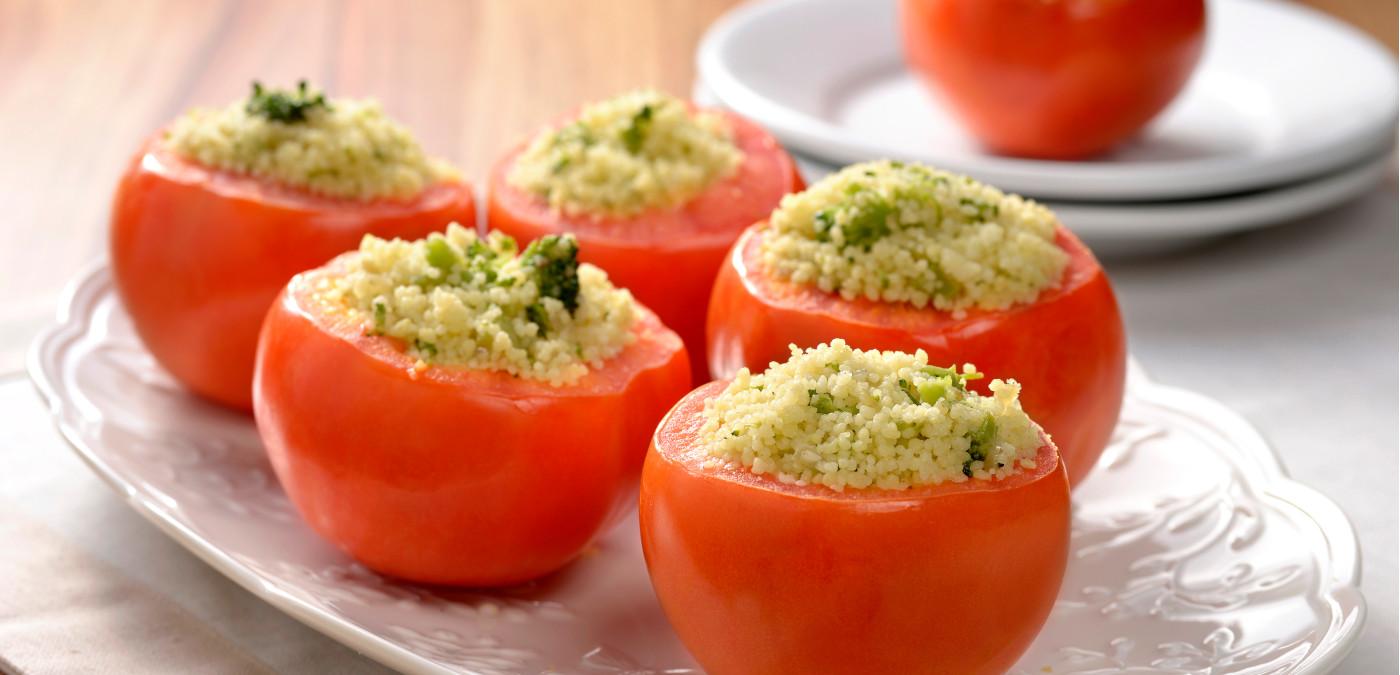tomate recheado com couscous marroquino para o natal
