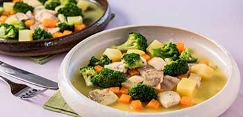 peixe cozido com legumes