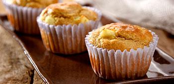 muffin salgado com queijo branco