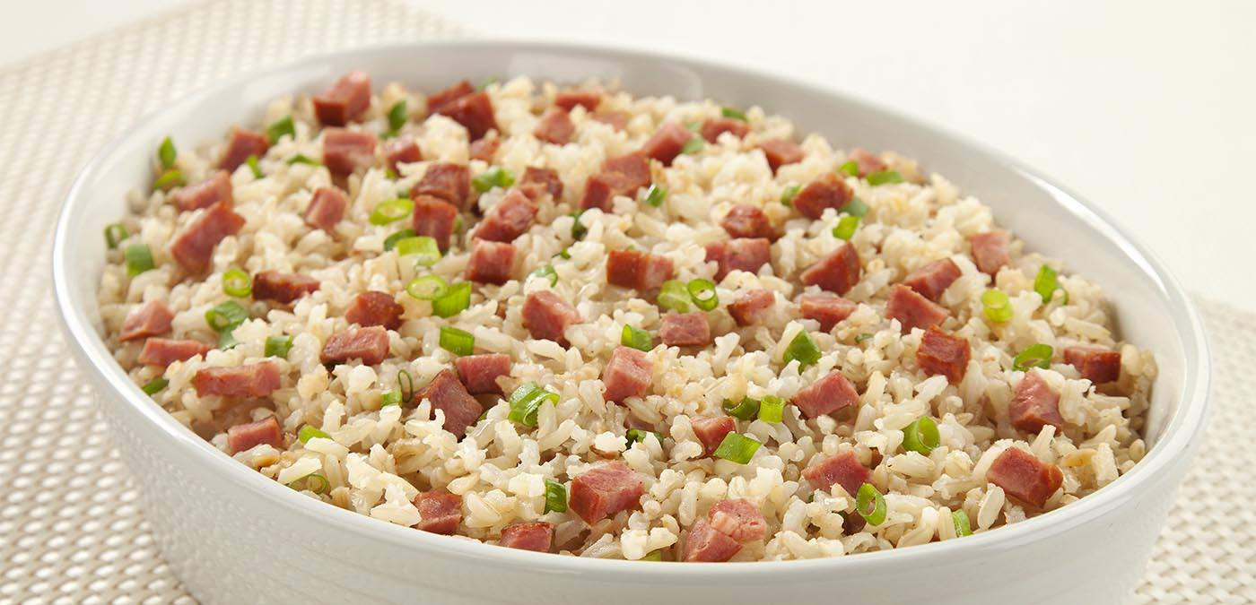 ARROZ INTEGRAL COM LINGUIÇA