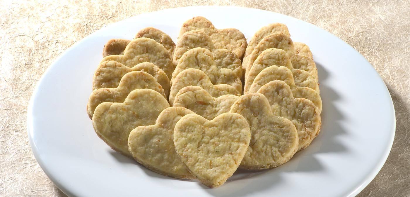 Imagem da receita de Biscoitinhos de queijo e cenoura