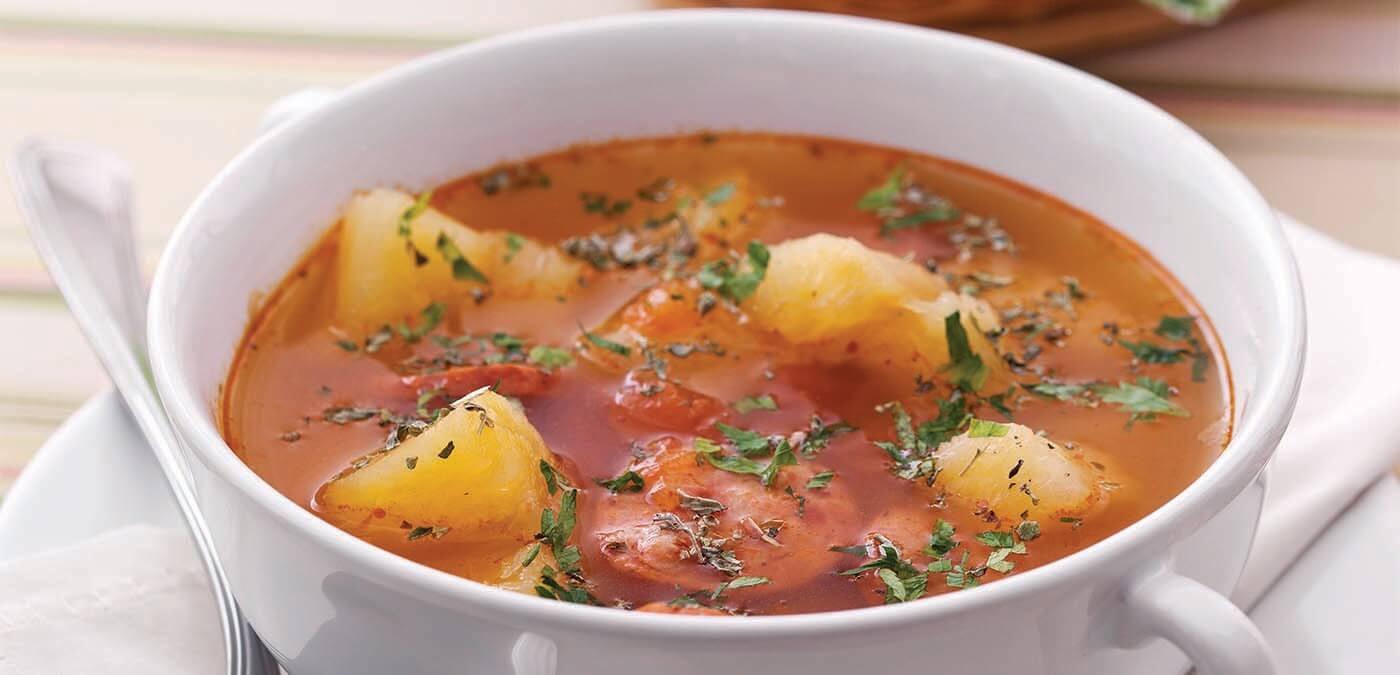 Image result for Sopa de mandioca com carne